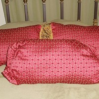 Red Gold Pillow Set