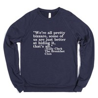 Breakfast club quote-Unisex Navy Sweatshirt