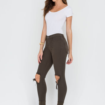 Make The Cut-Out Distressed Skinny Jeans