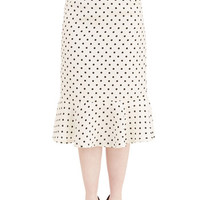 ModCloth Vintage Inspired Long Dot Up in the Excitement Skirt