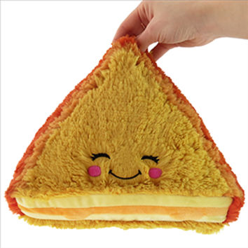 Mini Comfort Food Grilled Cheese: An Adorable Fuzzy Plush to Snurfle and Squeeze!
