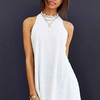 Oh My Love Lace Frill-Collar Sleeveless Shift