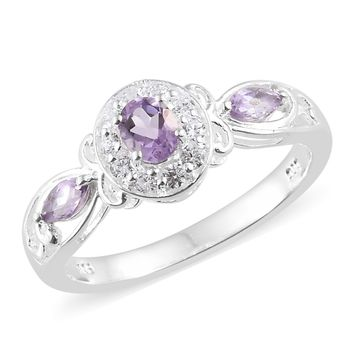 Rose De France Amethyst Sterling Silver Ring