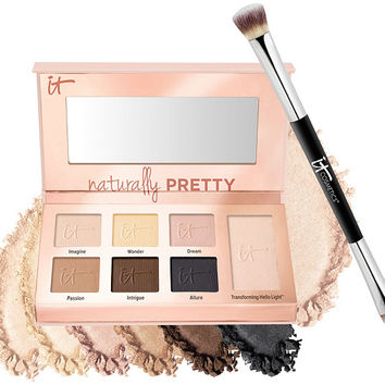 IT Cosmetics Naturally Pretty Essentials Palette w/Brush — QVC.com