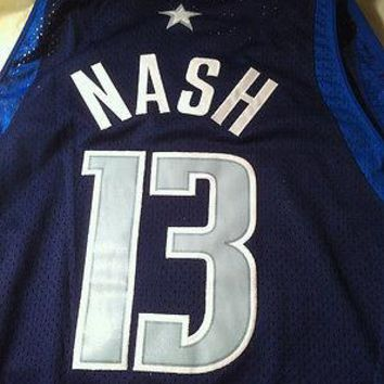STEVE NASH #13 MAVERICKS BLUE STITCHED RETRO NIKE SWINGMAN NBA JERSEY SHIP