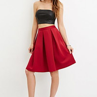 Box Pleat A-Line Skirt