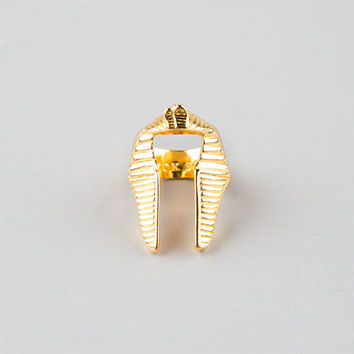 Black Scale Pharaoh Nemes Ring Gold One Size For Men 25553662101