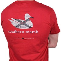Authentic Alabama Heritage Tee in Crimson by Southern Marsh