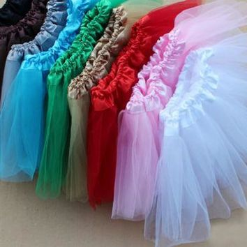 Women Tutu New Dancewear Skirt Princess Skirts 3 Layer Pettiskirt Ballet tulle skirt For Kid Girls Kids Adult all colors C3211a