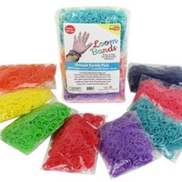 Loom Rubber Bands - 4800 pc Rubber Band Refill Mega Value Pack with Clips (Rainbow Colors - 600 each of Red, Yellow, Green, Blue, Pink, Purple, Turquoise, and Orange) - 100% Compatible with Rainbow Looms