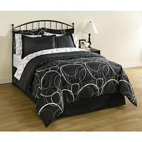 8 Piece Complete Comforter Bedding Set Bed in a Bag