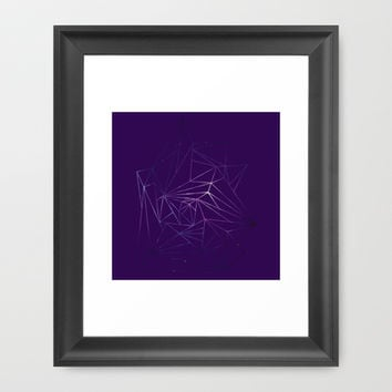 Shapes in Space Framed Art Print by Kayleigh Rappaport