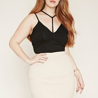 Plus Size Strappy Cropped Cami