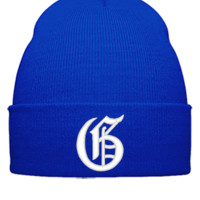 G EMBROIDERY HAT  - Beanie Cuffed Knit Cap