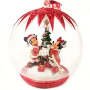 Mickey and Minnie Mouse Christmas Tree Bauble | Disney Store