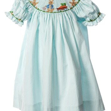 Zuccini Baby Girl Smocked Short Sleeved Bishop Bunny Dress