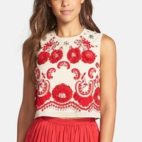 Women's Needle & Thread Embellished Georgette Top,