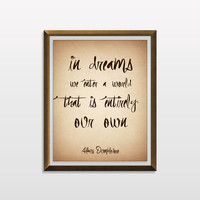 Albus Dumbledore Quote, Harry Potter Quote, Inspirational Quote, Typography Print, Harry Potter Print, Harry Potter Poster, Wall Art