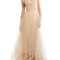 Cap Sleeves Tulle Wedding Dress Prom Dress