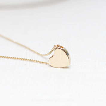 Dainty Simple Heart Necklace