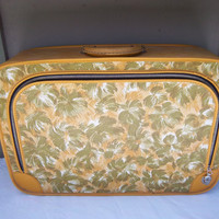 Vintage Small Suitcase in Mod Avocado and by GodSaveStrawberryJam