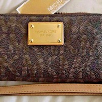 One-nice™ Michael Kors $108 NWT Wallet Multi-Function Phone Case Large Wristlet Electronic