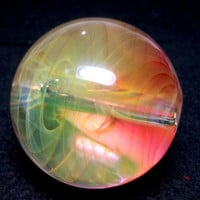 Glass Pipe, FireKist Marble Pipe, Color Changing Glass PIpe, Cgge Team, Hand Blown Glass, One of a Kind, Ready for Shipping