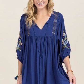 Rigley Beaded Embroidery Shift Dress