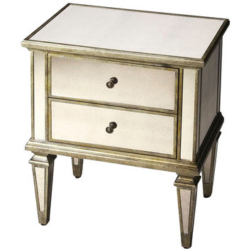 Mirrored Celeste Bedside Table