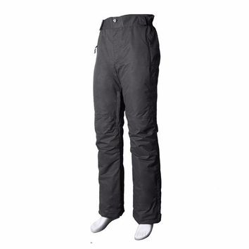 DKF4S Waterproof Windproof Breatable Professional Skiing Pants Women Thick Elastic Waist Warm Lady Snow Snowboard Skating Trousers