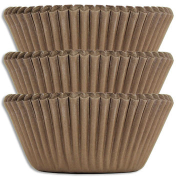 Solid Brown Baking Cups