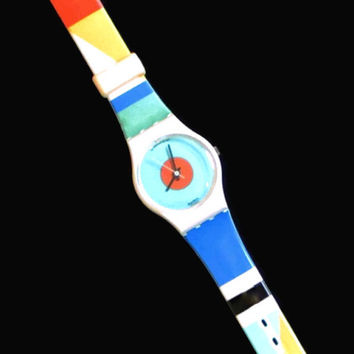 Vintage Swatch Watch, Nab Light Swatch Watch, 1980's Swatch Watch, Retro Watch, Swatch Watch