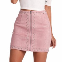 Fashionable  high waist  mini skirt