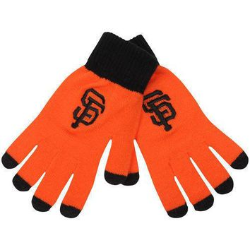 San Francisco SF Giants Stretch Knit Gloves with Texting Tips MLB
