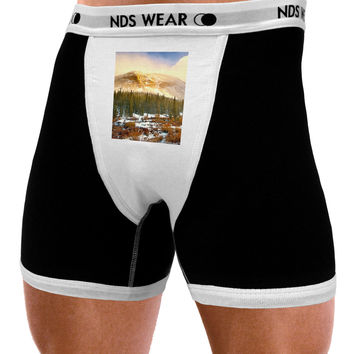 Nature Photography - Mountain Glow Mens NDS Wear Boxer Brief Underwear by NDS Wear