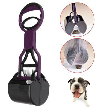 Portable Pet Pooper Scooper Dog Cat Products Waste Garbage Poop Cleaning Supplies Dogs Toilets Easy Pick Up Tools