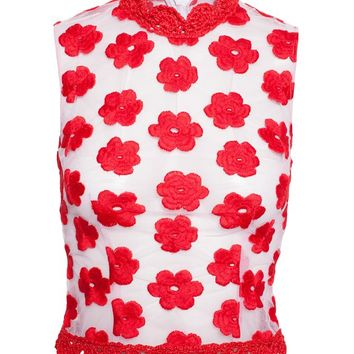 Floral Embroidered Top - SIMONE ROCHA