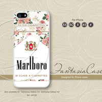Rose, Floral, iPhone 5 case, iPhone 5C Case, iPhone 5S case, Phone cases, iPhone 4 Case, iPhone 4S Case, iPhone case, Marlboro, FC-0728