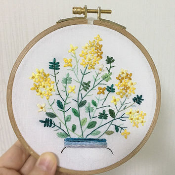 plus_*NEW* Bonus Free Pattern_Canola Bouquet_유채꽃다발_PDF files_Reversed Pattern_instantdownload files_Hand Embroidery Pattern_NewUpdatedGuide!
