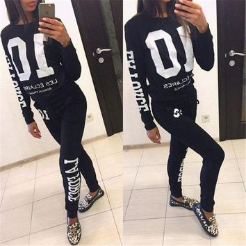 DCCK8H2 2018 Autumn Winter Fashion 2 Piece Set Tracksuit For Women Pant And Sweatsuits 10 Printed Women's Suits Clothing