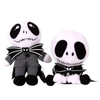 Nightmare Before Christmas Gifts Black Jack Skellington Plush New Year Doll Toy [8362509767]