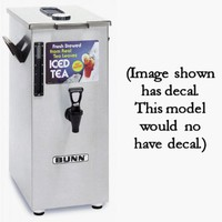 4 Gallon Square Tea Dispenser Brew-Through Lid Tall TD4T-03250.0018