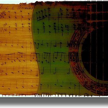 Musical Notes Picture on Acrylic , Wall Art Décor, Ready to Hang!