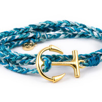 Gold Anchor Aqua
