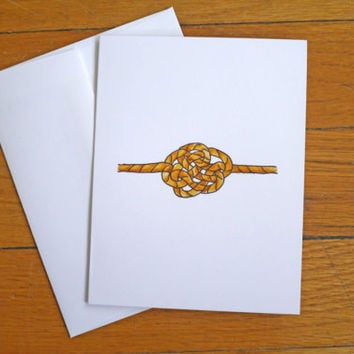 Wedding Card - Tying the Knot - Witty Congratulations