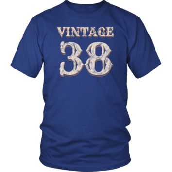 Men's Vintage 38 Tshirt 80th Birthday Gift for 80 Year Old