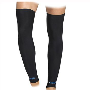 Leg Compression Sleeve (1 Pair) Women Men Youth Basketball - Sports Footless Calf Compression Socks Knee Brace Support Helps Shin Splints, Arthritis, Blood Circulation, Muscles - Black by ASOONYUM