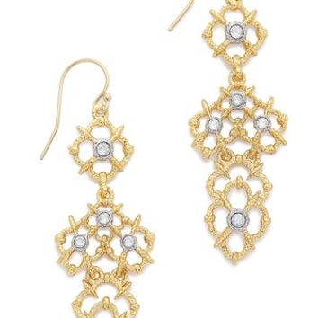 Alexis Bittar Woven Crystal Studded Drop Earrings
