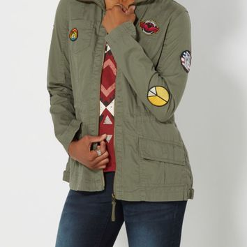 Patched Utility Jacket | Anorak & Twill Jackets | rue21