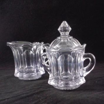 Colonial Style Sugar And Creamer Set